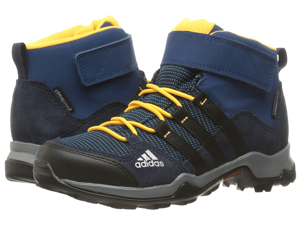 adidas Outdoor Kids - Brushwood Mid CF CP (Little Kid/Big Kid) (Tech Steel/Black/Collegiate Navy) Boys Shoes