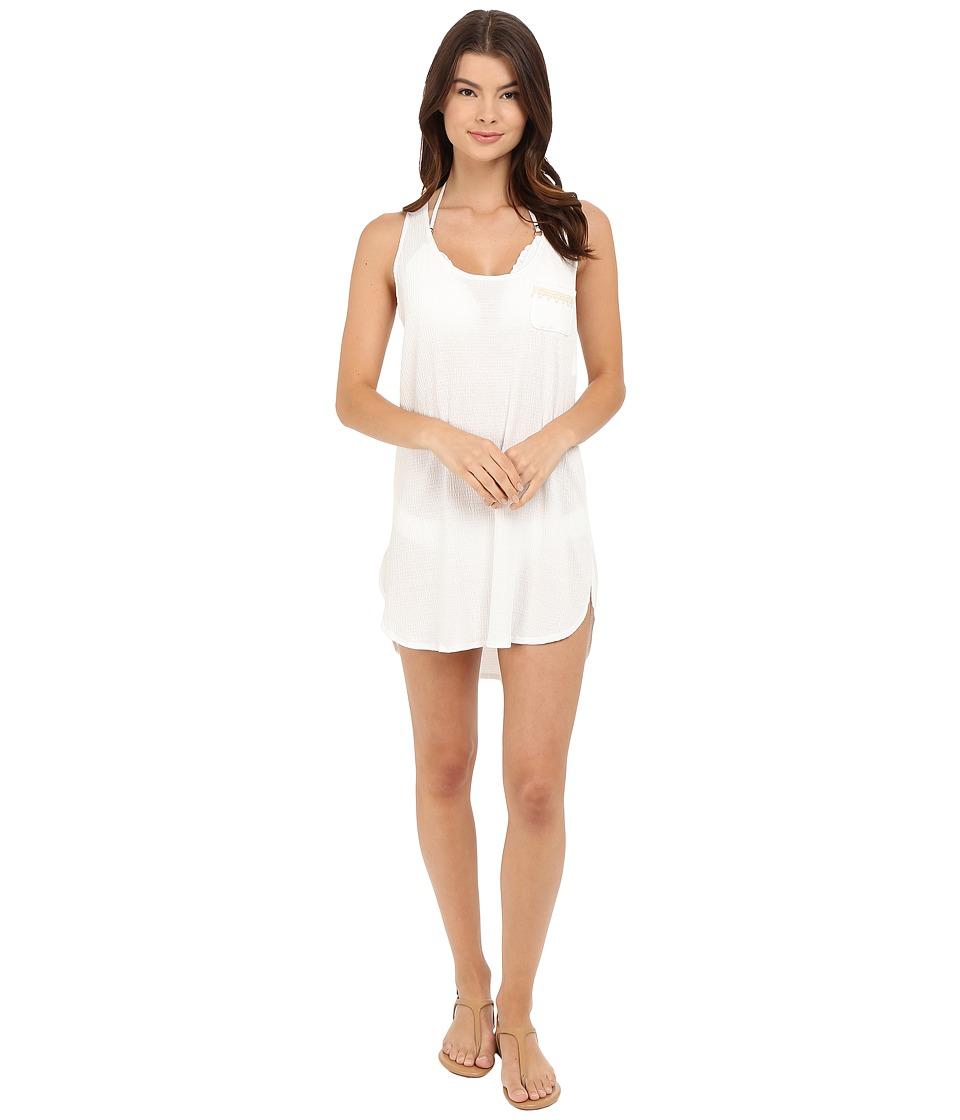 Lucky Brand - White Beach Dress (White) Women's Swimwear