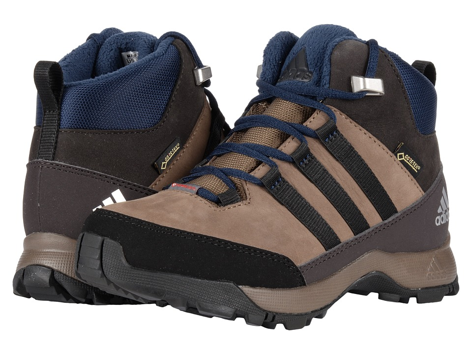 adidas Outdoor Kids - CW Winter Hiker Mid GTX Leather (Little Kid/Big Kid) (Grey Blend/BLack/Night Brown) Boys Shoes