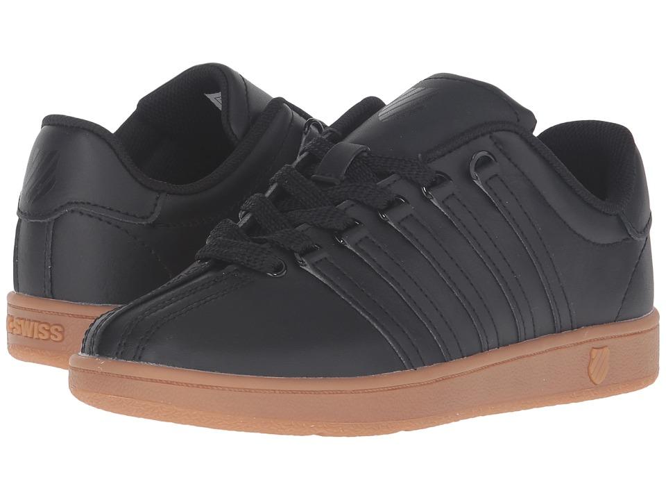 K-Swiss Kids - Classic VN (Big Kid) (Black/Gum) Kids Shoes