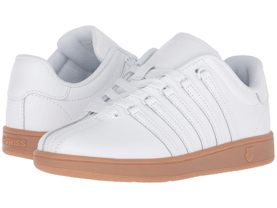 K-Swiss Kids - Classic VN (Big Kid) (White/Gum) Kids Shoes