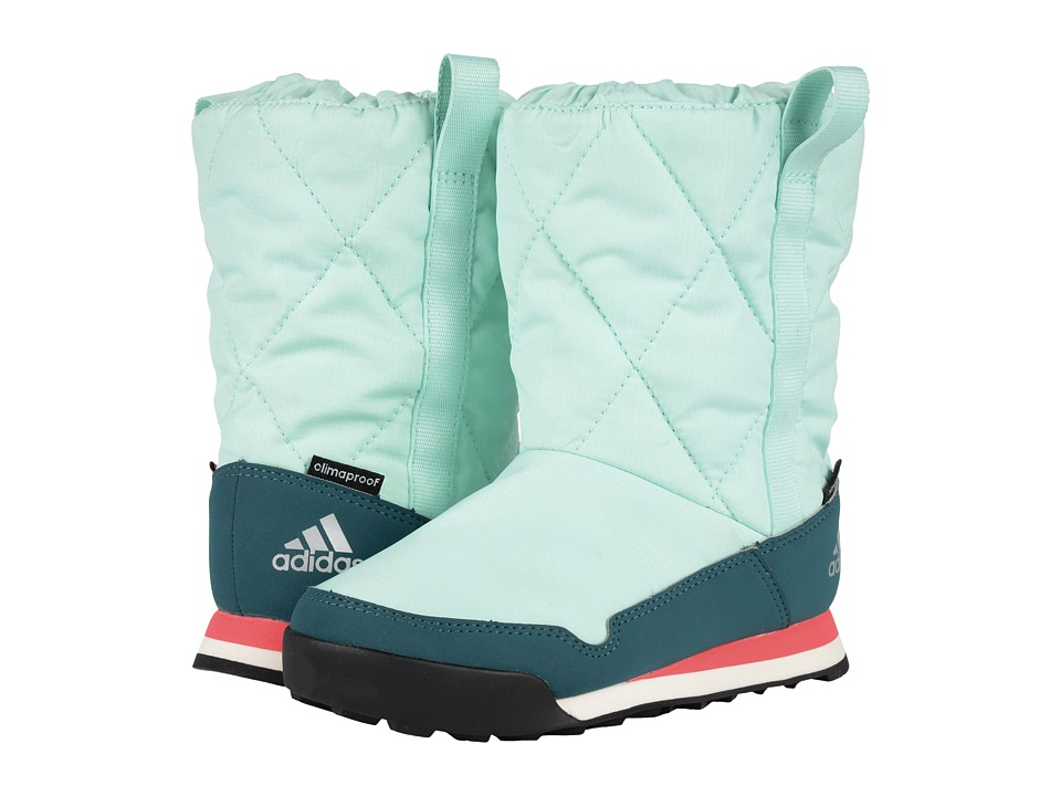 adidas Outdoor Kids - CW Snowpitch Slip-On (Little Kid/Big Kid) (Ice Green/Tech Green/Shock Red) Kids Shoes