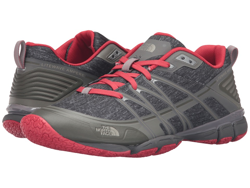 The North Face Litewave Ampere (Zinc Grey Heather Print/Melon Red) Women