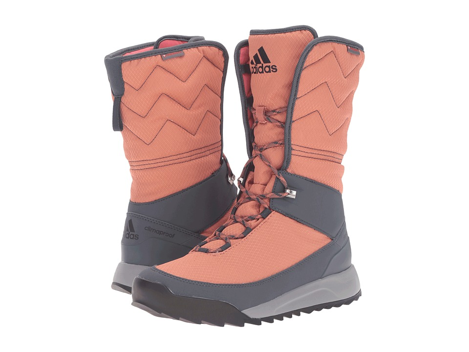 adidas Outdoor - CW Choleah High CP Leather (Raw Pink/Black/Utility Blue) Women's Cold Weather Boots