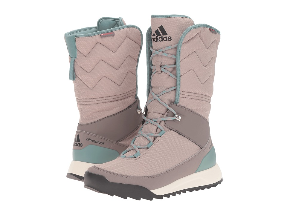adidas Outdoor - CW Choleah High CP Leather (Vapour Grey/Black/Tech Earth) Women's Cold Weather Boots