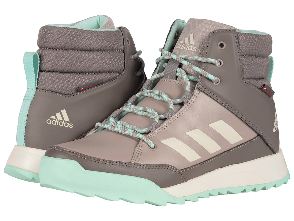 adidas Outdoor - CW Choleah Sneaker Leather (Vapour Grey/Chalk White/Tech Earth) Women's Cold Weather Boots
