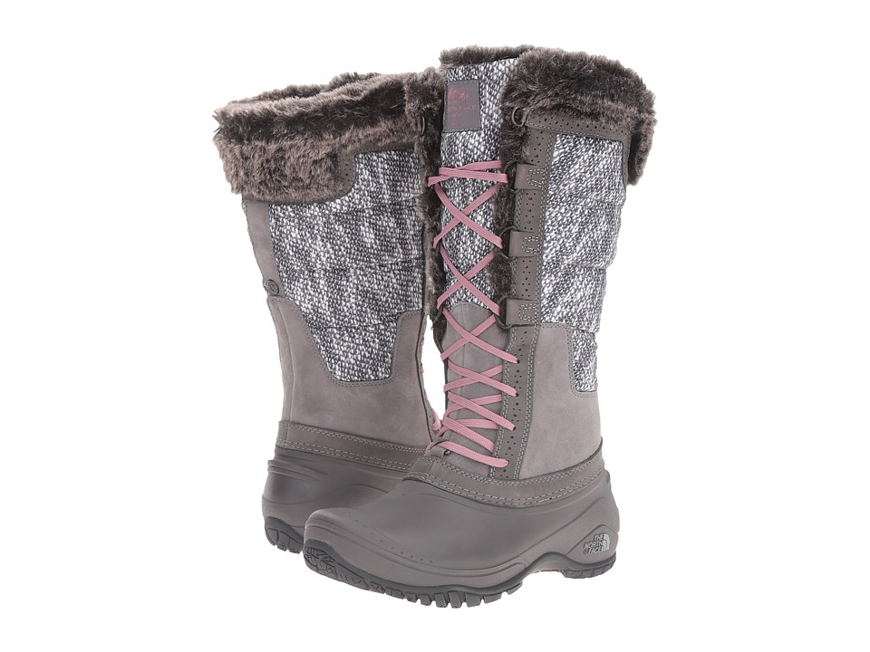 The North Face - Shellista II Tall (Smoked Pearl Grey/Nostalgia Rose) Women's Cold Weather Boots