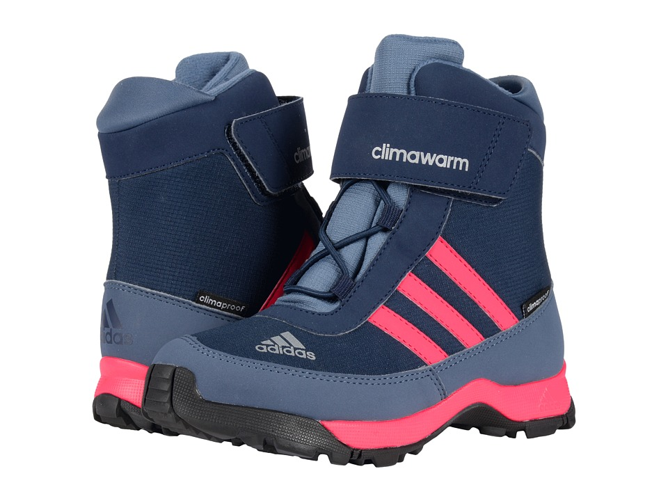 adidas Outdoor Kids - CH Adisnow CF CP (Little Kid/Big Kid) (Collegiate Navy/Bahia Pink/Tech Ink) Girls Shoes