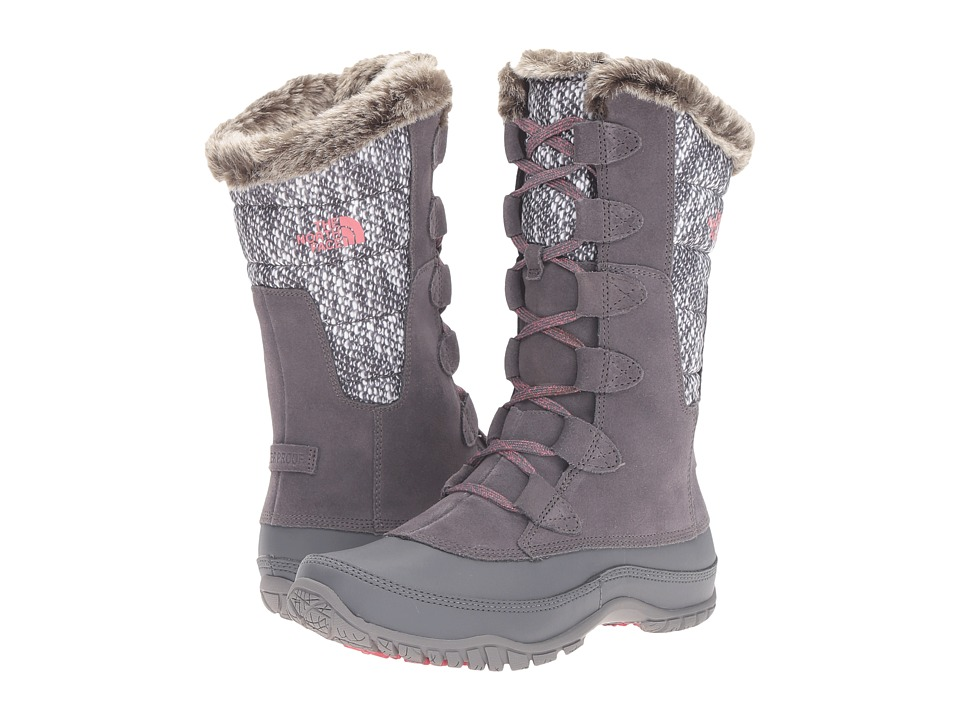 The North Face - Nuptse Purna (Smoked Pearl Grey/Calypso Coral) Women's Cold Weather Boots