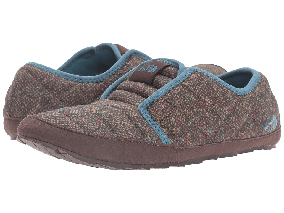 The North Face - ThermoBall Traction Mule II (Tweed Print/Tapestry Blue) Women's Slippers