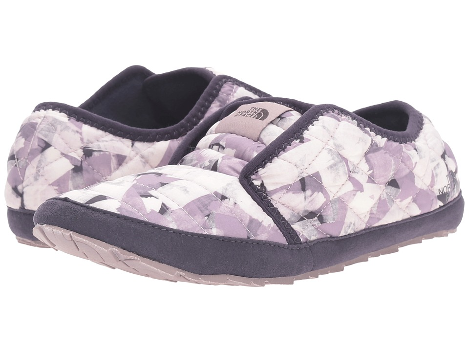 The North Face - ThermoBall Traction Mule II (Rabbit Grey Swashed Print/Nine Iron Grey) Women's Slippers