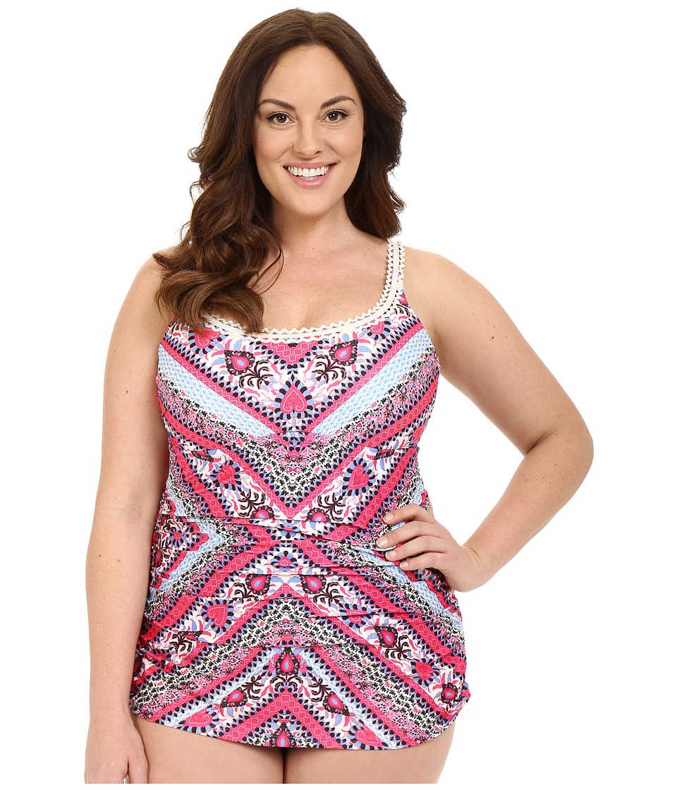 BECCA by Rebecca Virtue - Plus Size Secret Garden One-Piece (Multi) Women's Swimsuits One Piece