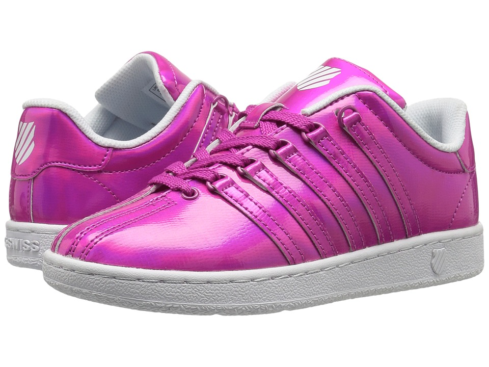 K-Swiss Kids - Classic VN Shine-On (Big Kid) (Pink/White) Girl's Shoes