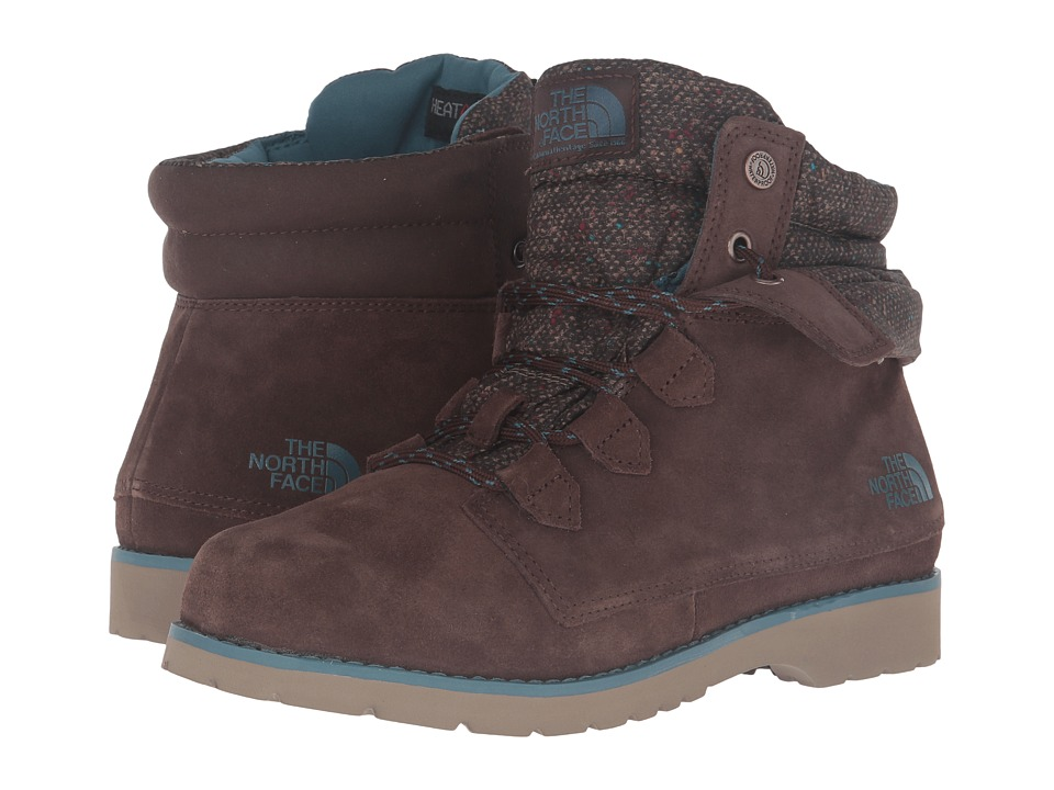 The North Face - Ballard Roll-Down SE (Demitasse Brown/Tapestry Blue) Women's Lace-up Boots
