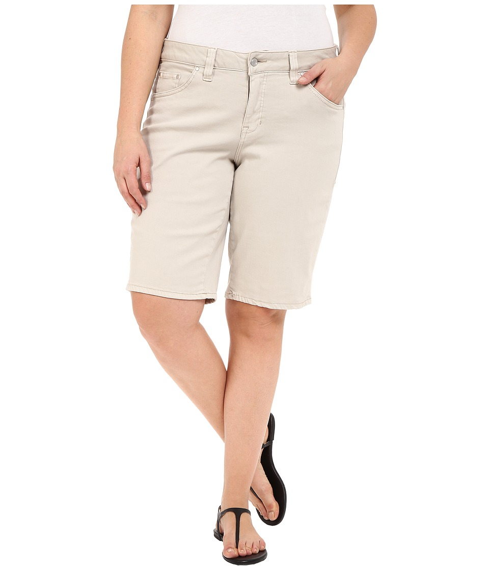 Jag Jeans Plus Size - Plus Size Willa Bermuda in Dolce Twill (Stone) Women's Shorts plus size,  plus size fashion plus size appare