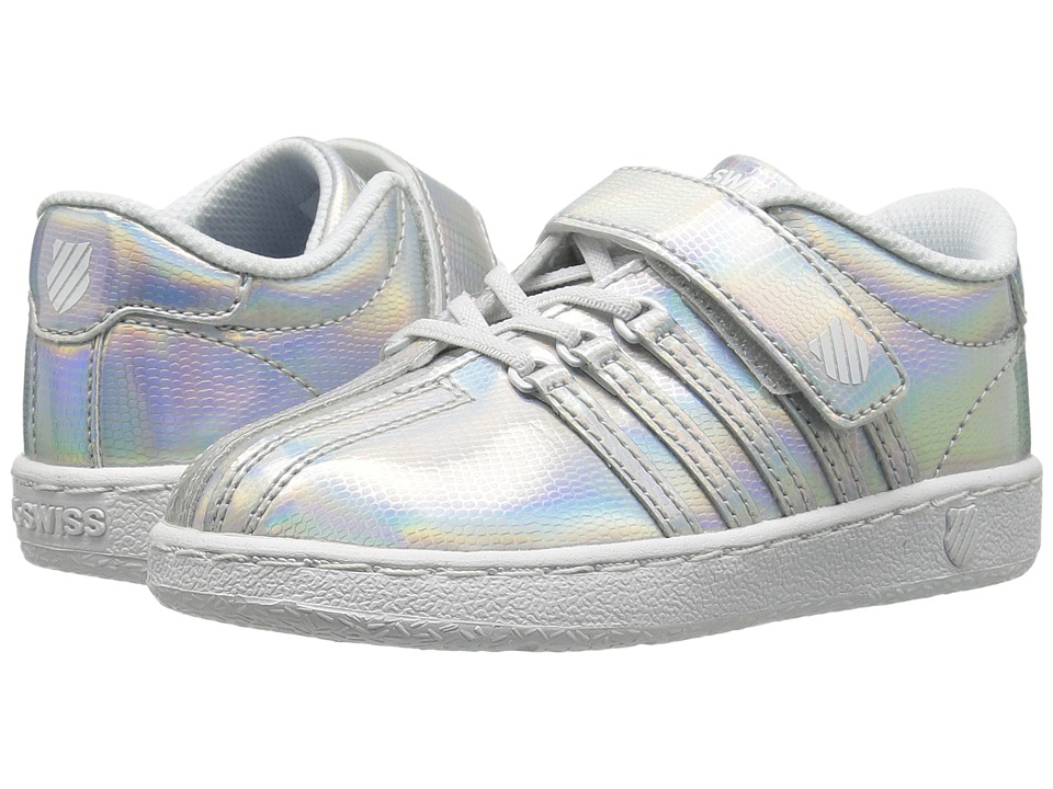 K-Swiss Kids - Classic VN Shine-On VLC (Infant/Toddler) (Silver/White) Girl's Shoes