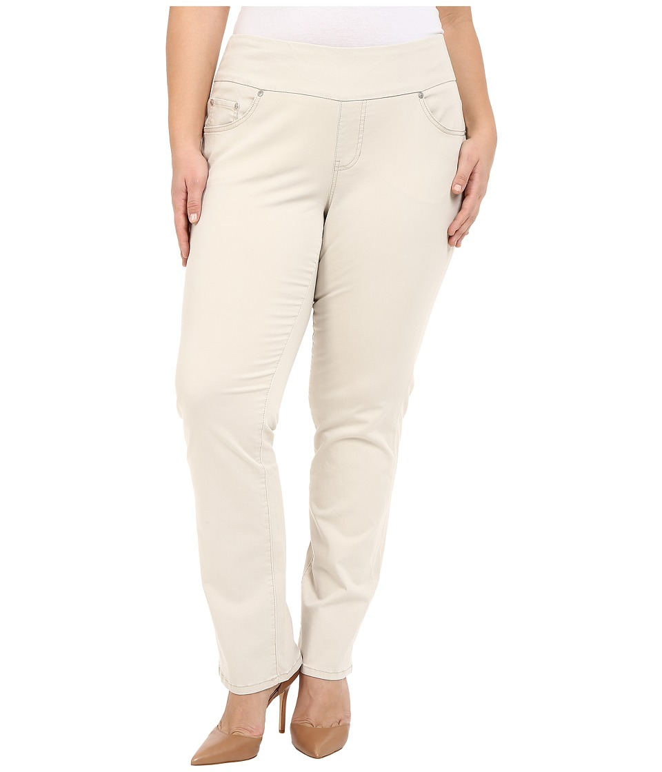 Jag Jeans Plus Size - Plus Size Peri Pull-On in Bay Twill (Stone) Women's Casual Pants plus size,  plus size fashion plus size appare