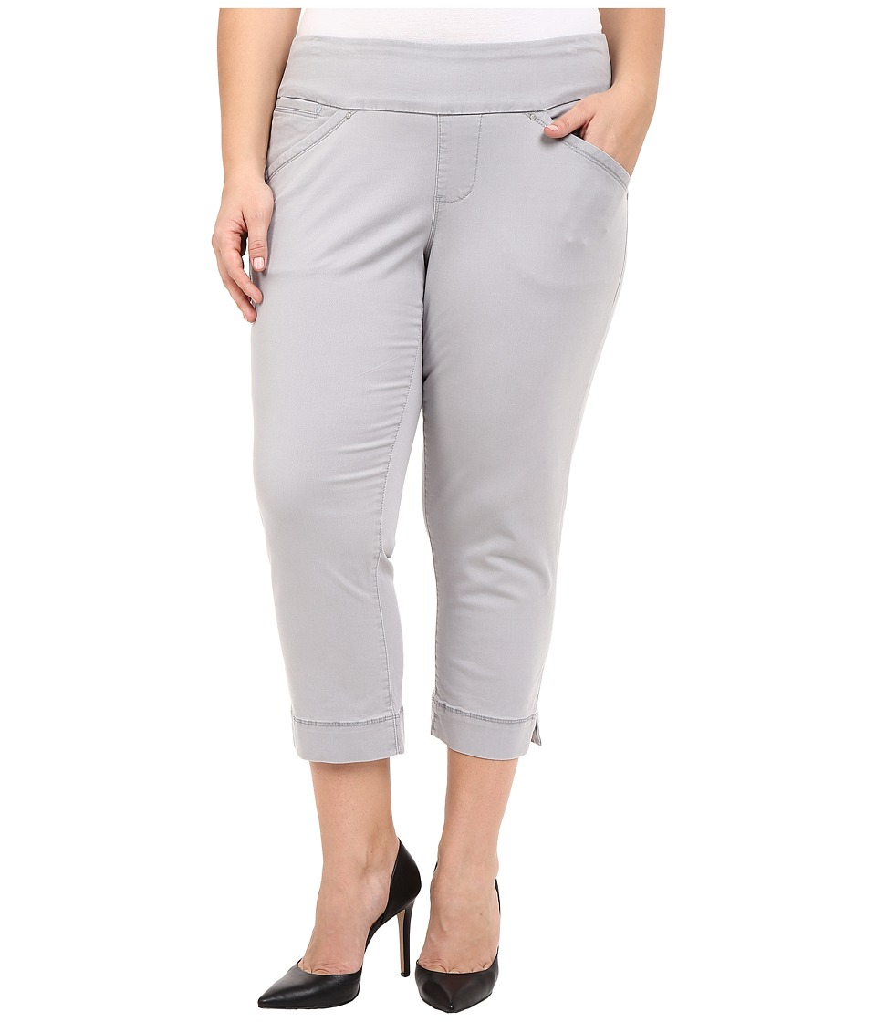 Jag Jeans Plus Size - Plus Size Marion Crop in Bay Twill (Grey Morn) Women's Casual Pants plus size,  plus size fashion plus size appare