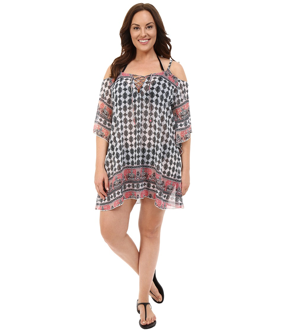 BECCA by Rebecca Virtue Plus Size Belly Dancer Tunic Cover-Up (Multi) Women