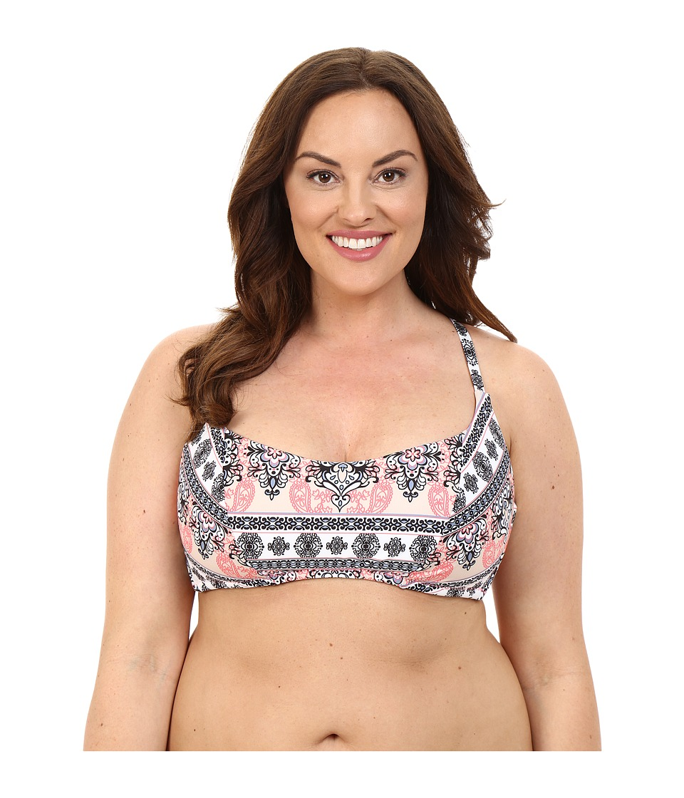 BECCA by Rebecca Virtue Plus Size Belly Dancer Halter Top (Multi) Women