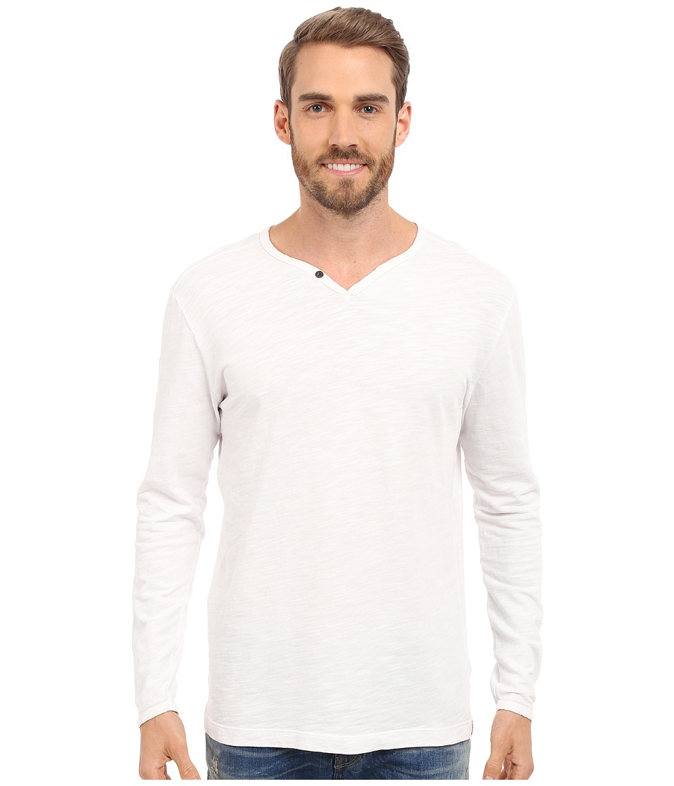 Agave Denim - Yuma One Button Long Sleeve Crew (Cloud Dancer) Men's Clothing