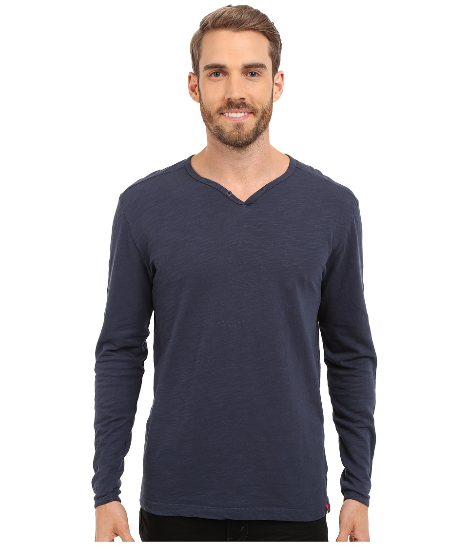 Agave Denim - Yuma One Button Long Sleeve Crew (Eclipse) Men's Clothing