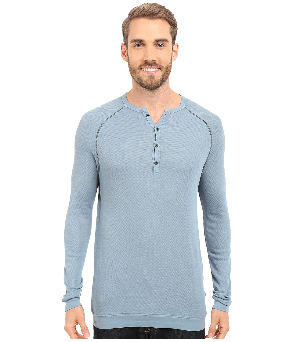 Agave Denim - Bishop Supima Henley Long Sleeve (Citadel) Men's Clothing