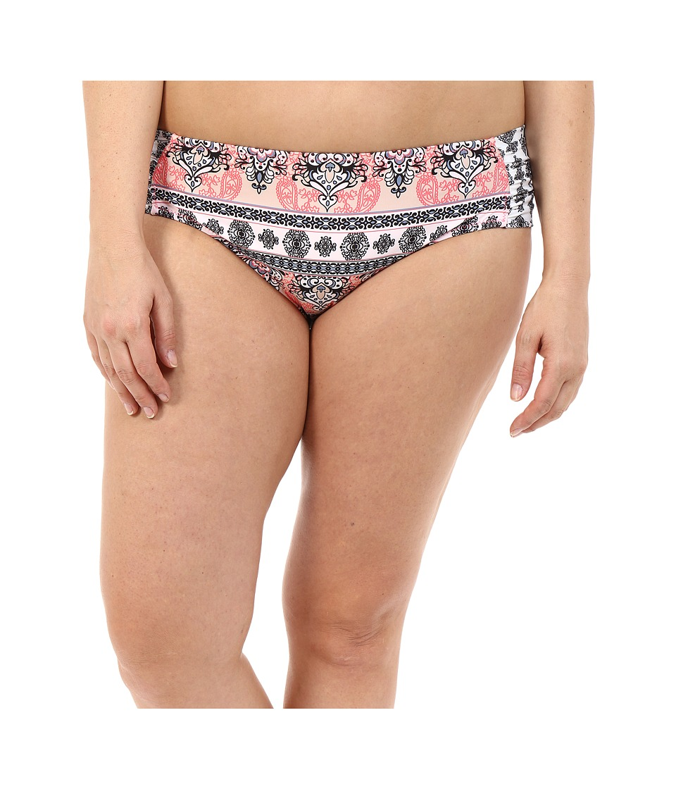 BECCA by Rebecca Virtue - Plus Size Belly Dancer Hipster Bottom (Multi) Women's Swimwear