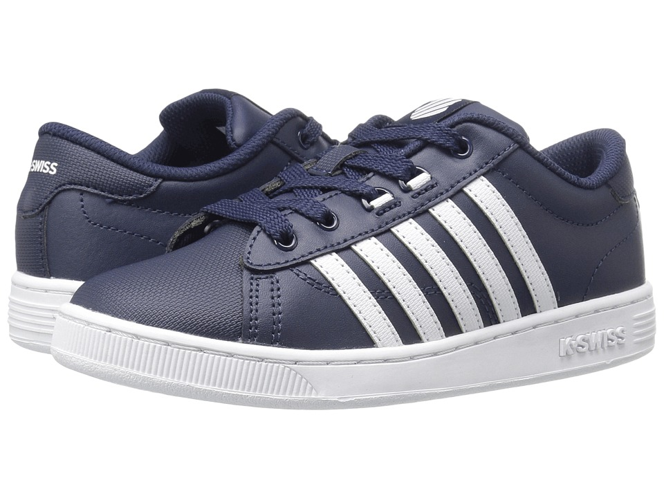 K-Swiss Kids - Hoke (Big Kid) (Navy/White) Kids Shoes