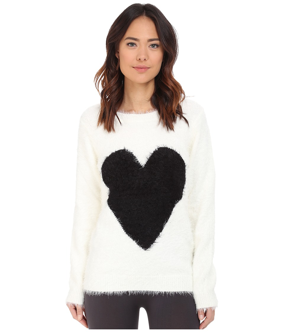 P.J. Salvage - Black Heart Cozy Sweater (Ivory) Women's Sweater