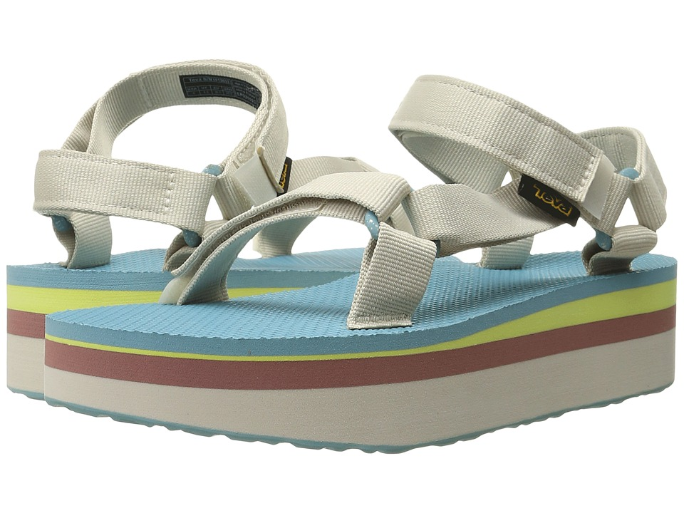 Teva - Flatform Universal Retro (Pastel) Women's Toe Open Shoes