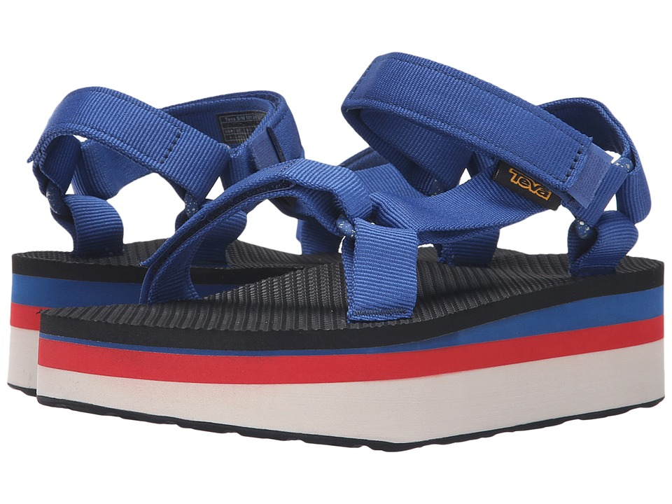 Teva - Flatform Universal Retro (True Blue) Women's Toe Open Shoes