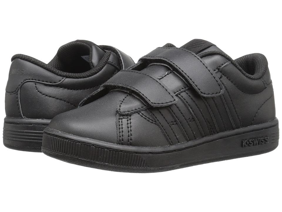 K-Swiss Kids - Hoke Strap (Little Kid) (Black/Black) Kid's Shoes