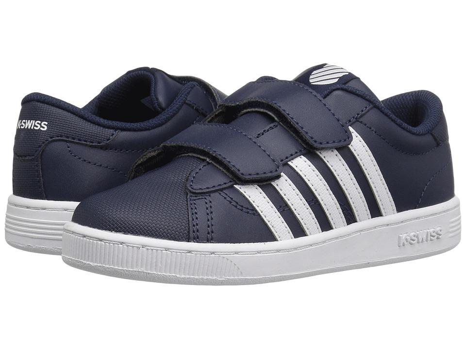 K-Swiss Kids - Hoke Strap (Little Kid) (Navy/White) Kid's Shoes