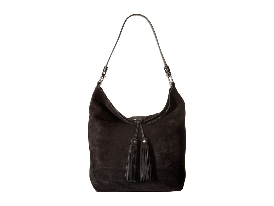 Frye - Clara Hobo (Black Suede) Hobo Handbags