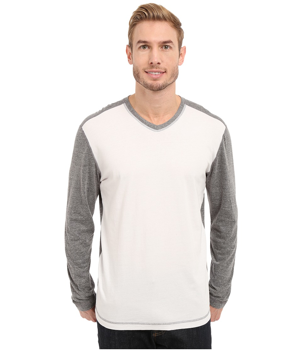 Agave Denim - Nichols Baseball V-Neck Long Sleeve (Cloud Dancer) Men's Clothing