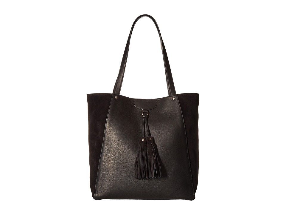 Frye - Clara Tote (Black Soft Vintage Leather/Suede) Tote Handbags