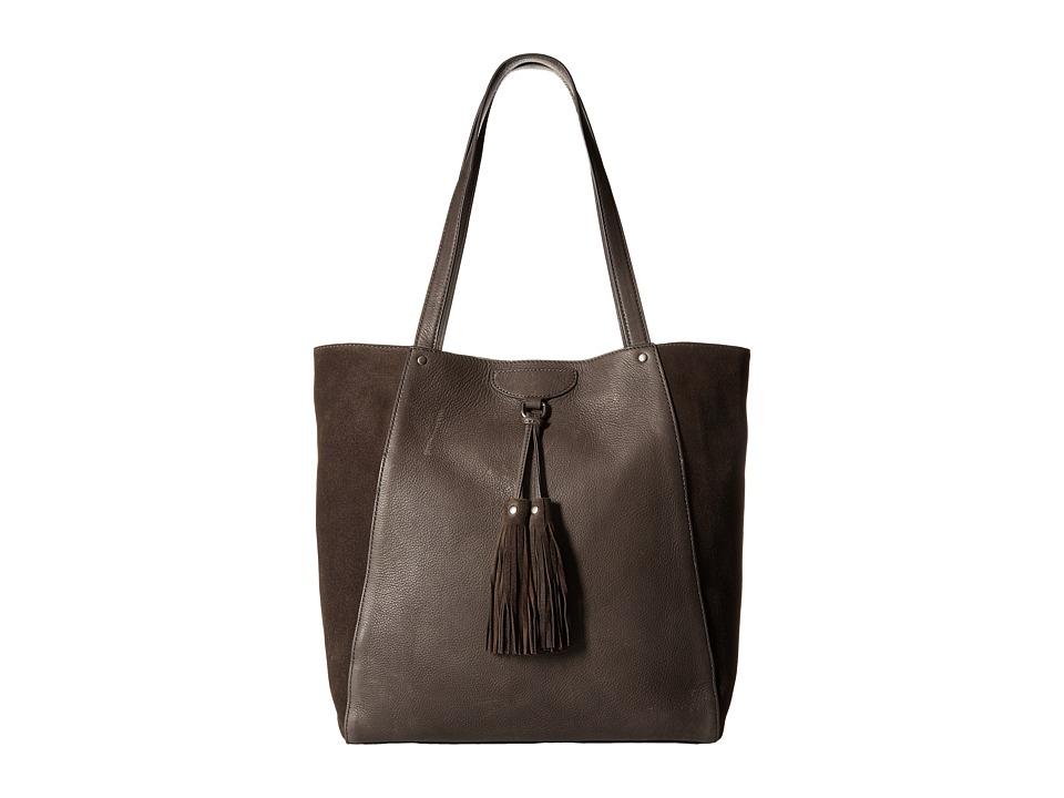 Frye - Clara Tote (Smoke Soft Vintage Leather/Suede) Tote Handbags