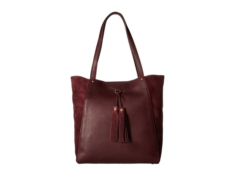 Frye - Clara Tote (Wine Soft Vintage Leather/Suede) Tote Handbags
