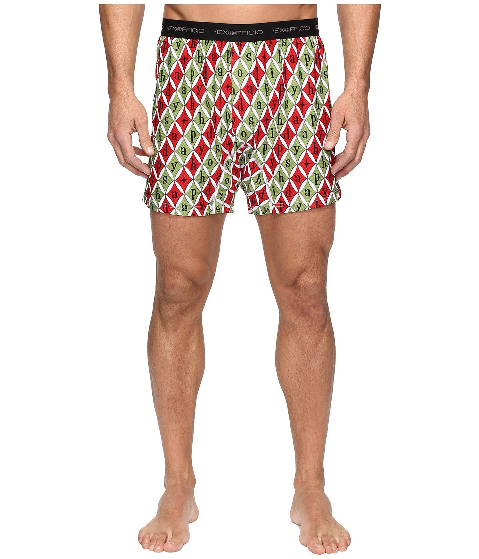 ExOfficio - Give-N-Go Printed Boxer (Happy Holidays) Men's Underwear