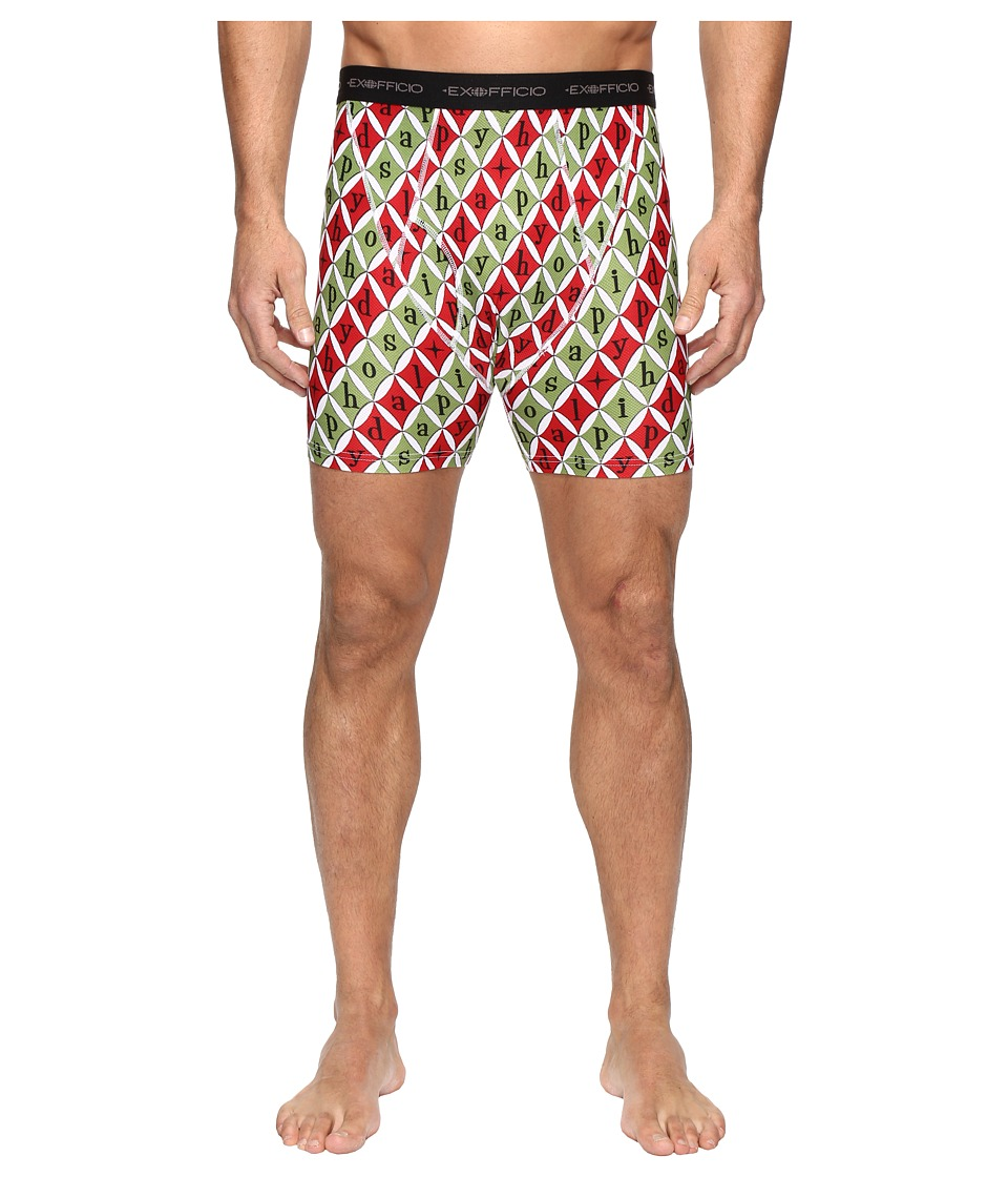 ExOfficio Give-N-Go Printed Boxer Brief (Happy Holidays) Men