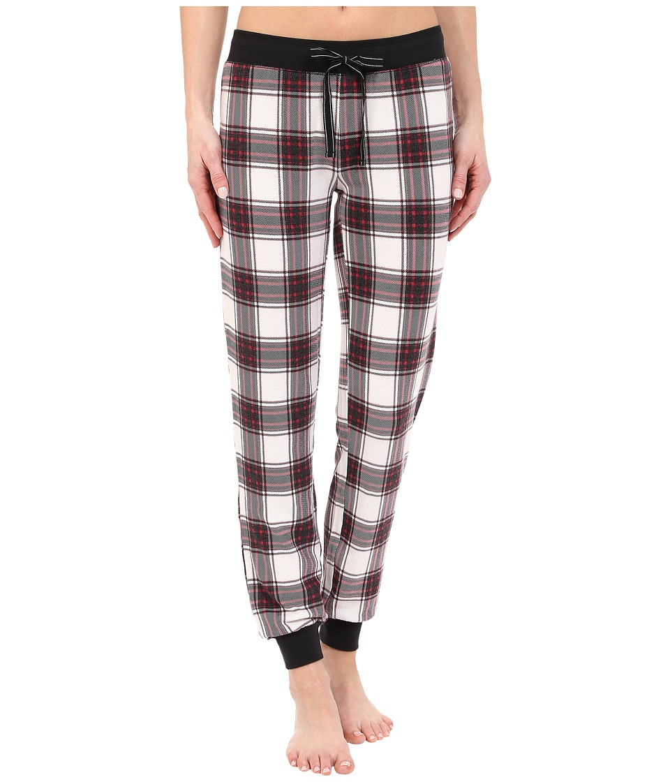 P.J. Salvage - Sealed with a Kiss Plaid Jogger (Ivory) Women's Pajama