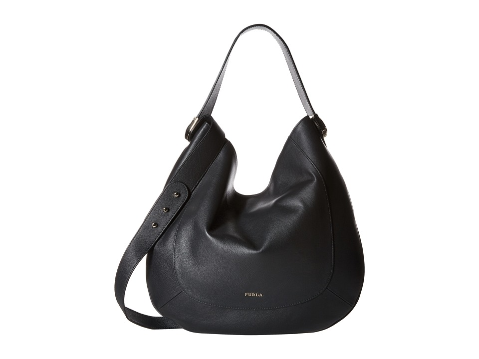 Furla - Luna Medium Hobo (Onyx 1) Hobo Handbags