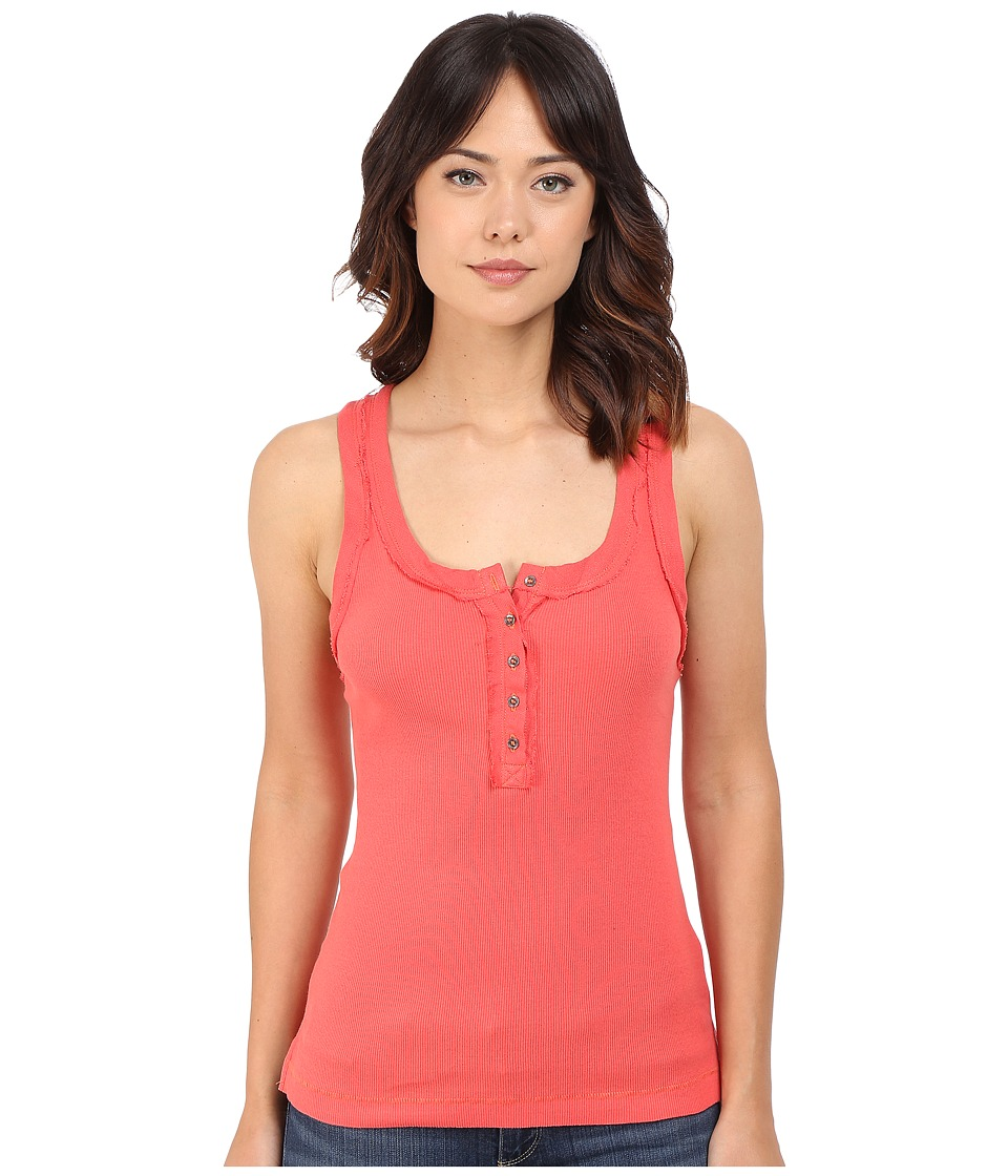 Free People - Time Out Tank Top (Coral) Women's Sleeveless