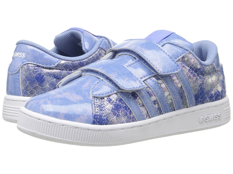 K-Swiss Kids - Hoke Snake Strap (Little Kid) (Blue/White) Girl's Shoes