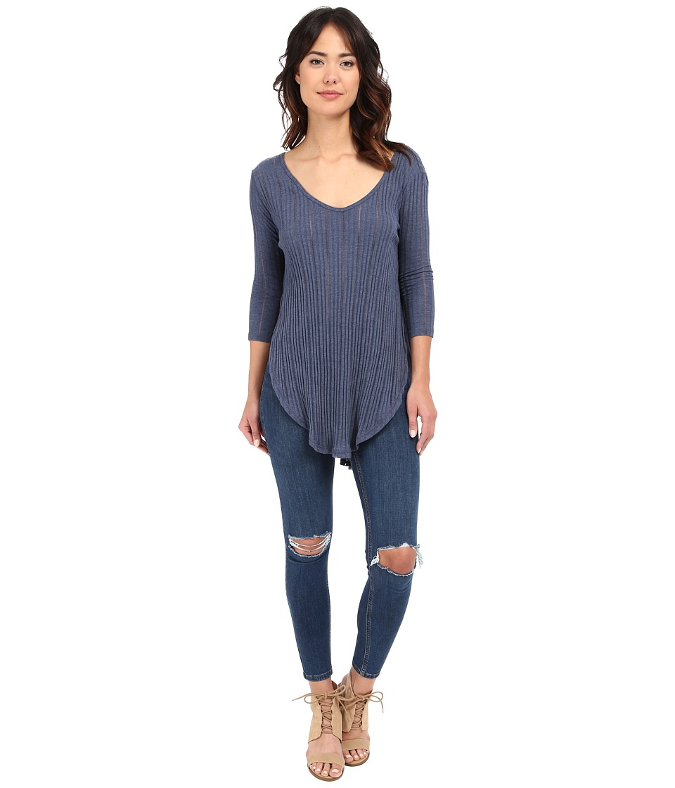 Free People - Astroia Hacci (Denim Blue) Women's T Shirt