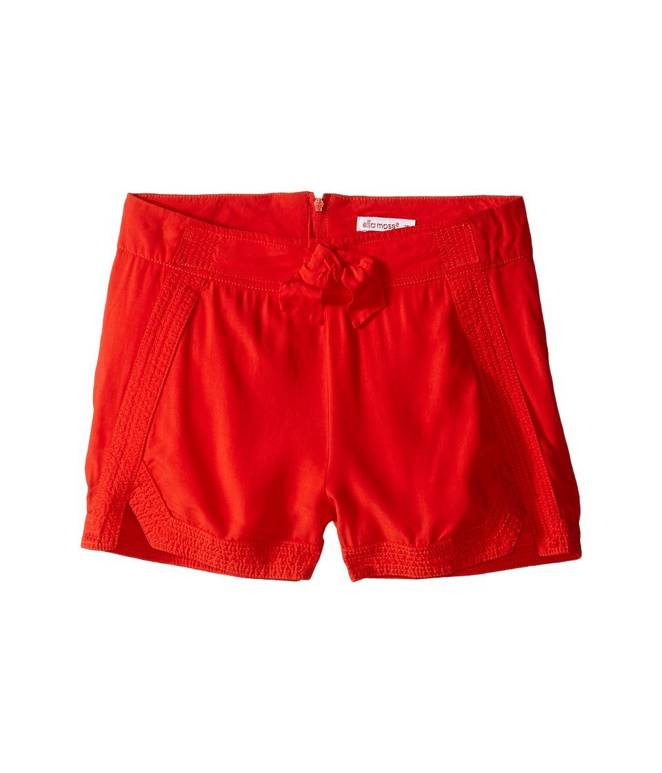 Ella Moss Girl - Alma Cuffed Woven Shorts (Big Kids) (Orange) Girl's Shorts