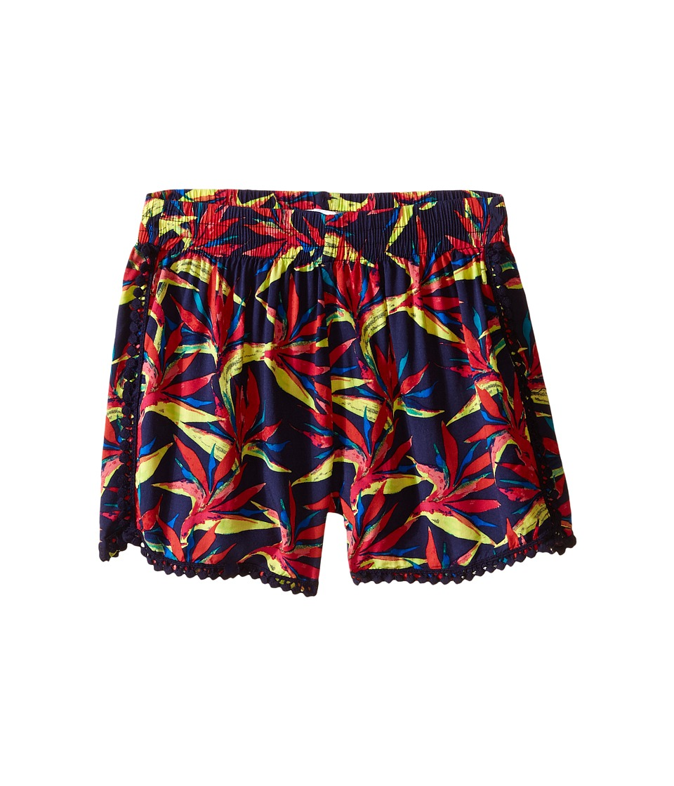 Ella Moss Girl - Kira Printed Woven Shorts (Big Kids) (Navy) Girl's Shorts
