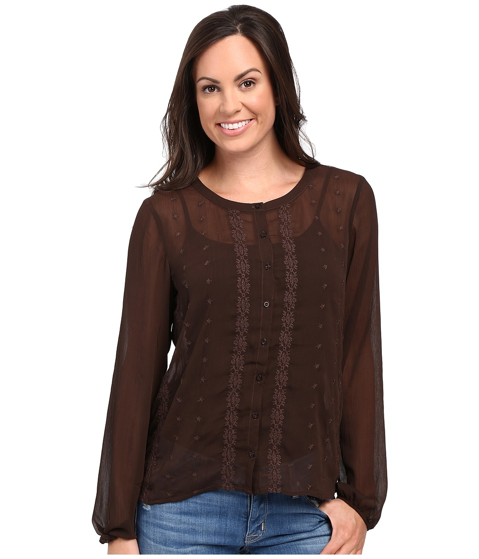 Ariat - Lilly Top (Dark Chocolate) Women's Clothing