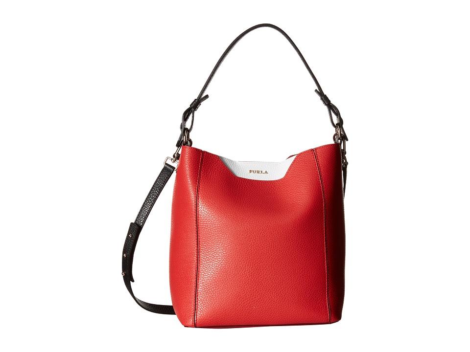 Furla - Fantasia Small Bucket Bag (Carminio) Shoulder Handbags